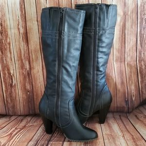 Merona Black High Heel High Top Boots